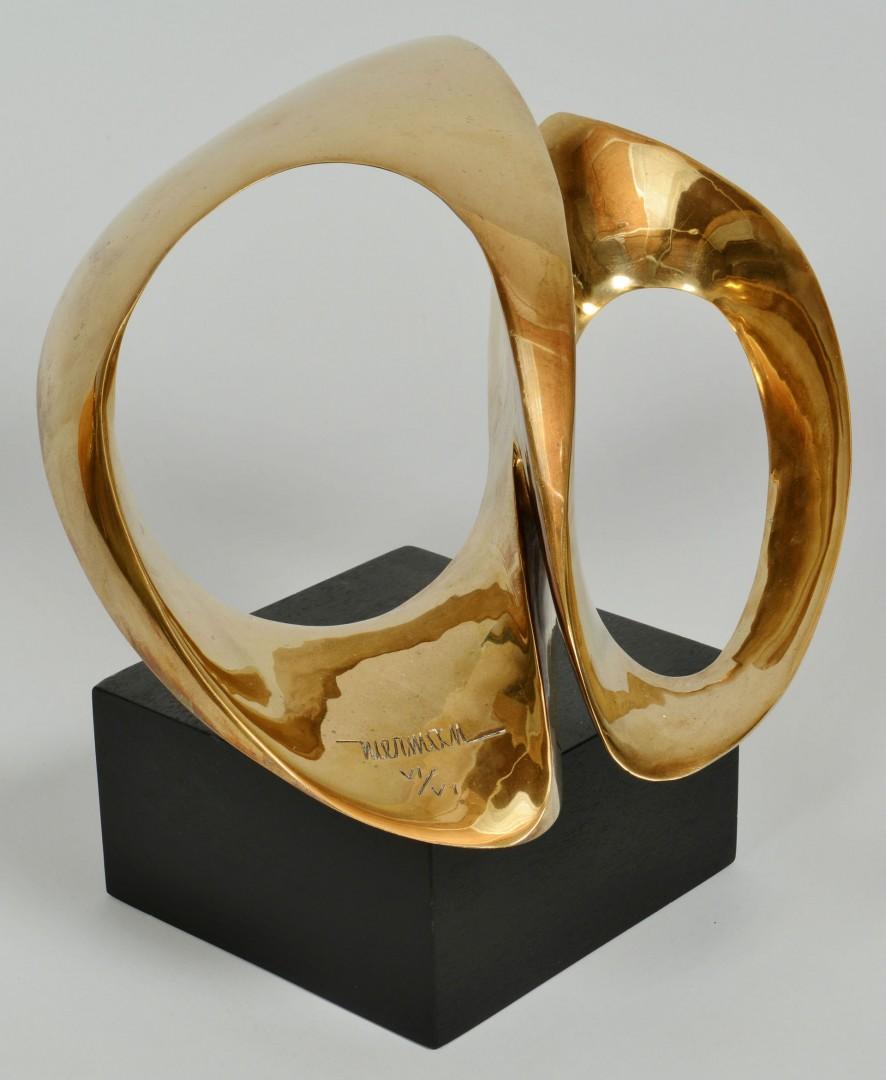 Lot 412: Leonardo Nierman Abstract Bronze Sculpture