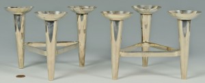 Lot 413: Pair German Bauhaus style Candleabra, WMF