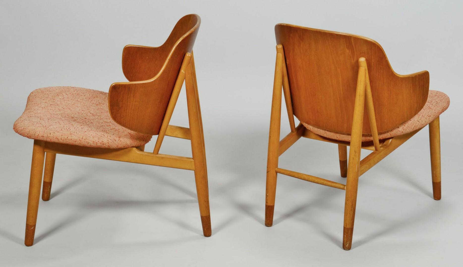Lot 414: Set of 4 Danish Modern Rosewood Chairs