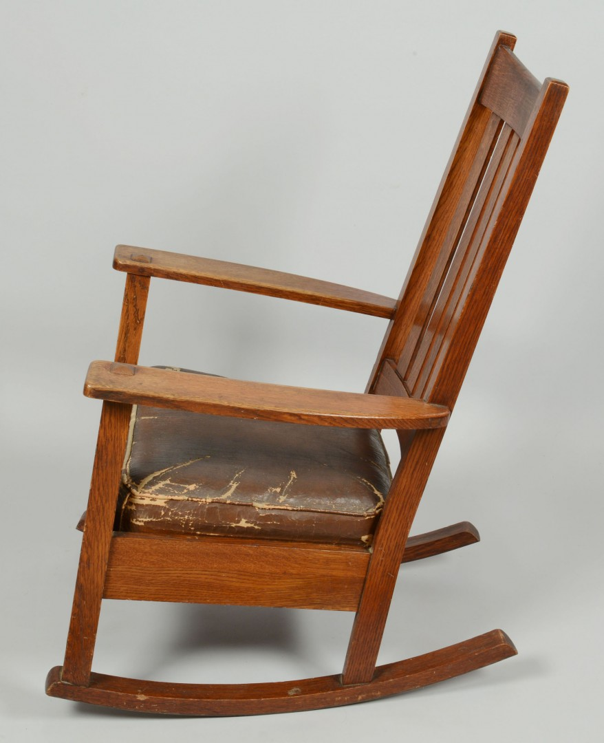 Lot 416: Arts & Crafts Charles Limbert Rocker