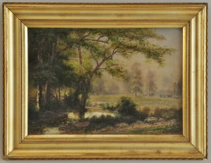 Lot 41: George Falk o/b Landscape