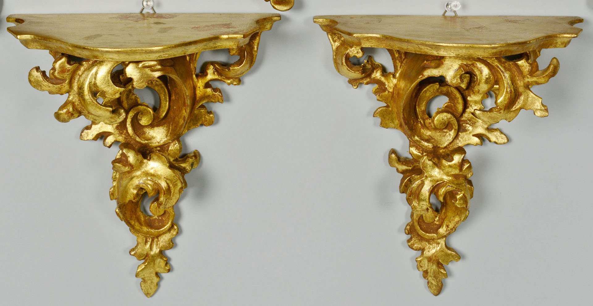 Grouping of 5 Italian Gilt Sconces
