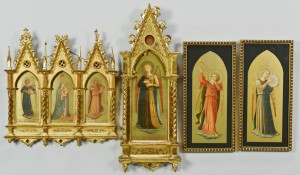 Lot 421: 6 Gilt Framed Angel Chromolithographs