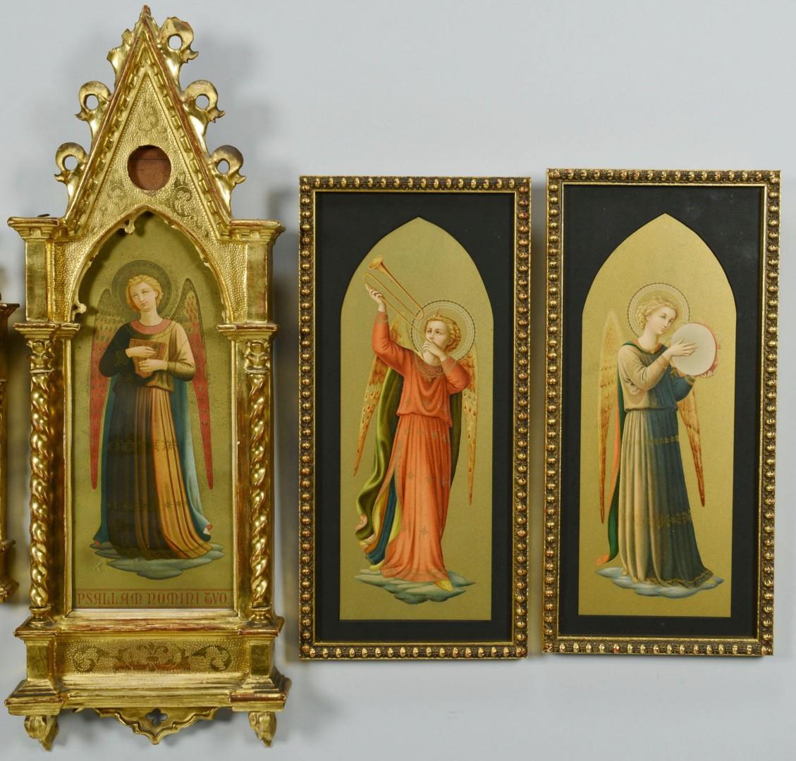 6 Gilt Framed Angel Chromolithographs