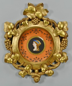 Lot 422: Framed French Classical Bust Plate