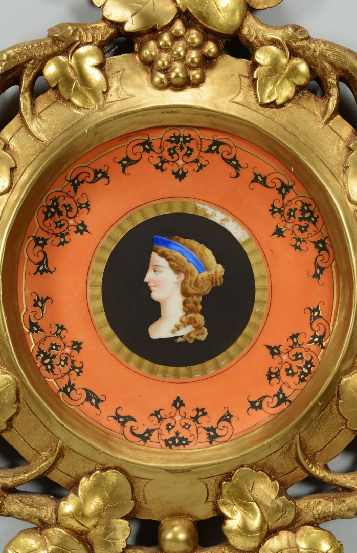 Framed French Classical Bust Plate
