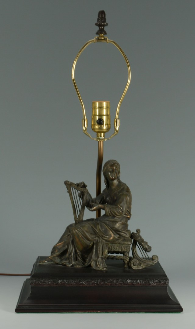 Lot 427: Spelter Female Figural Lamp Base