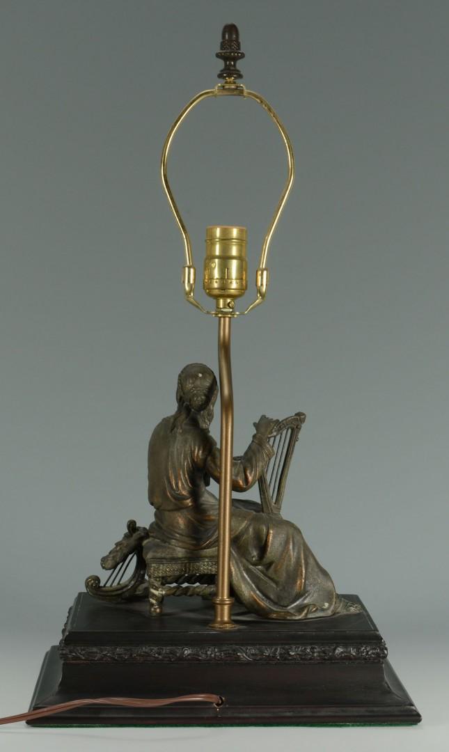 Spelter Female Figural Lamp Base