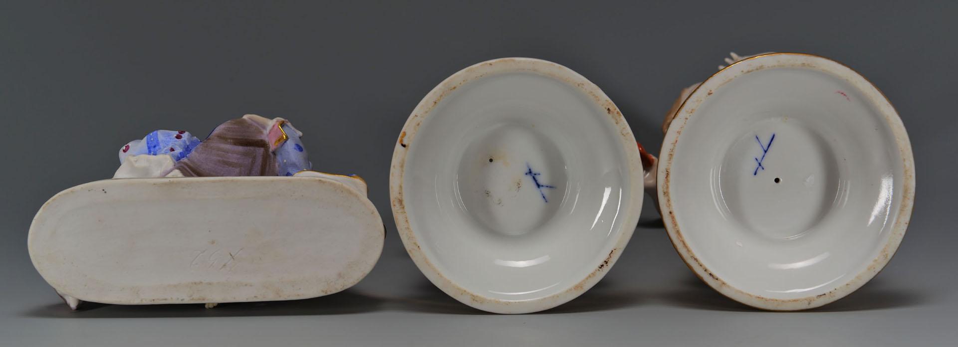 Lot 428: 3 German Porcelain Figures