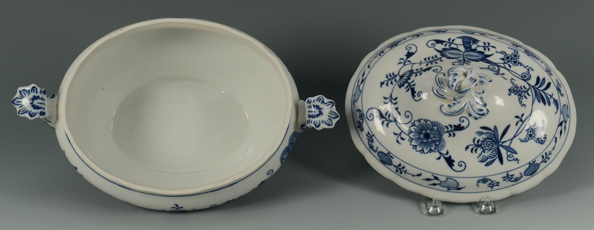 Lot 431: Grouping of Blue Onion Porcelain, 2 Meissen