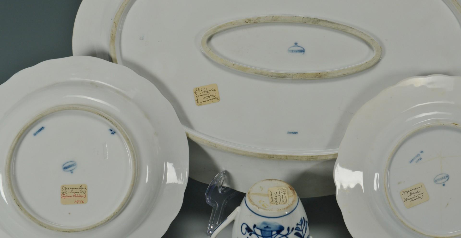 4 Meissen Blue Onion Porcelain Items + 1 other