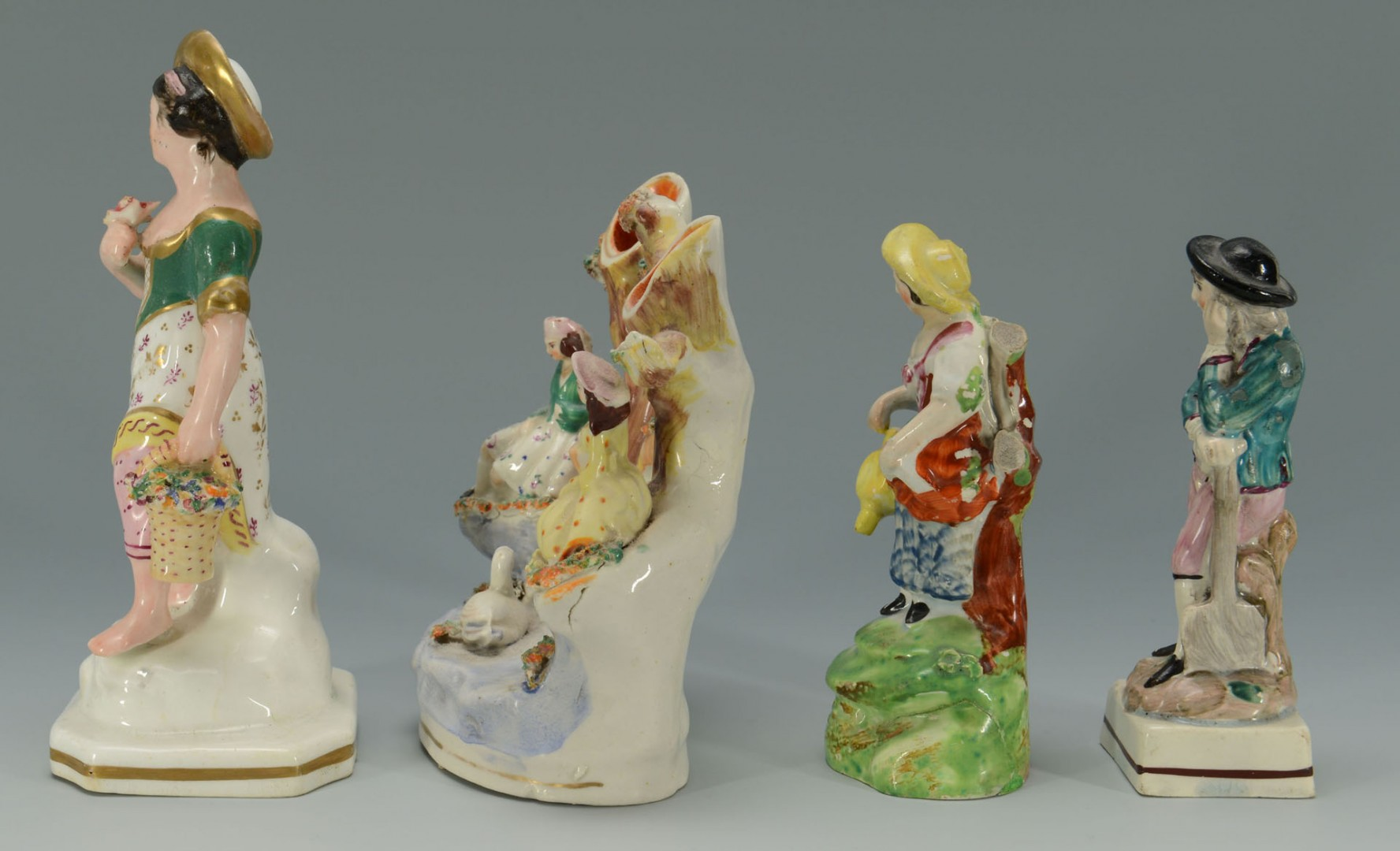 Grouping of 4 Staffordshire Figures
