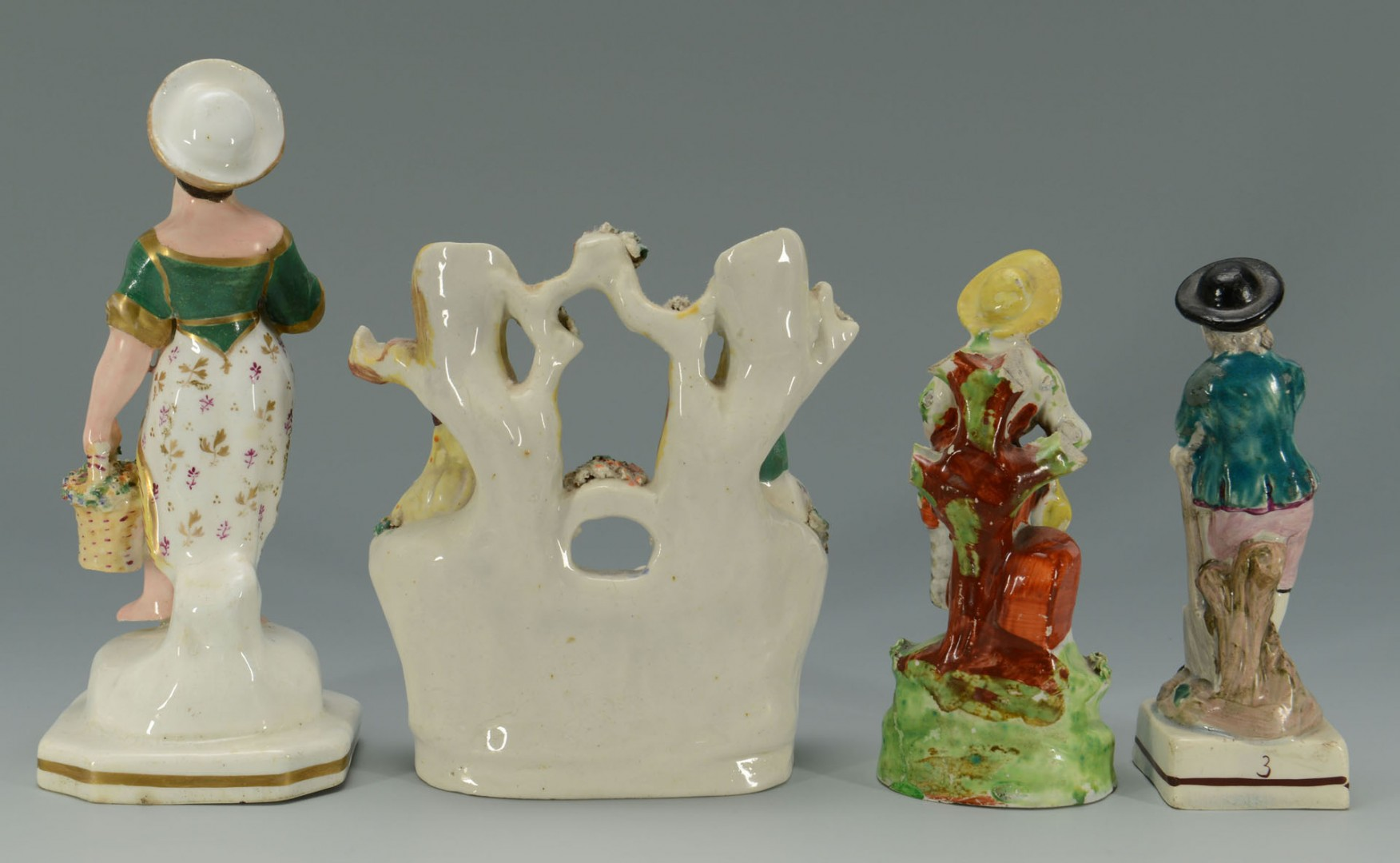Lot 434: Grouping of 4 Staffordshire Figures