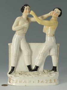 Lot 435: Stafforshire Group, Pugilists Keenan & Sayres