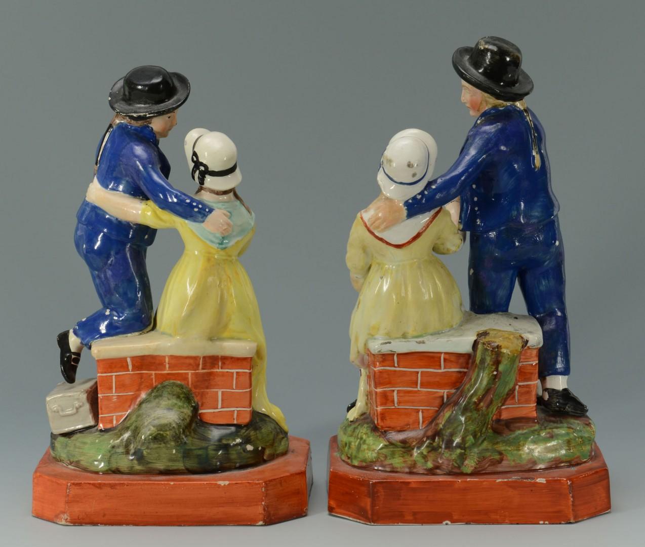 Lot 436: Pr Staffordshire Figures, Departure and Return