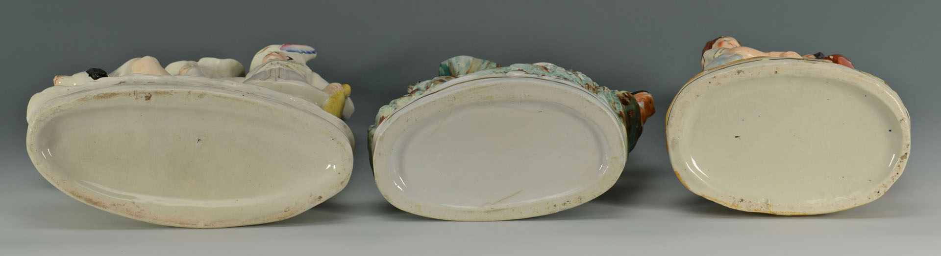 3 Staffordshire Spill Vase Figural scenes