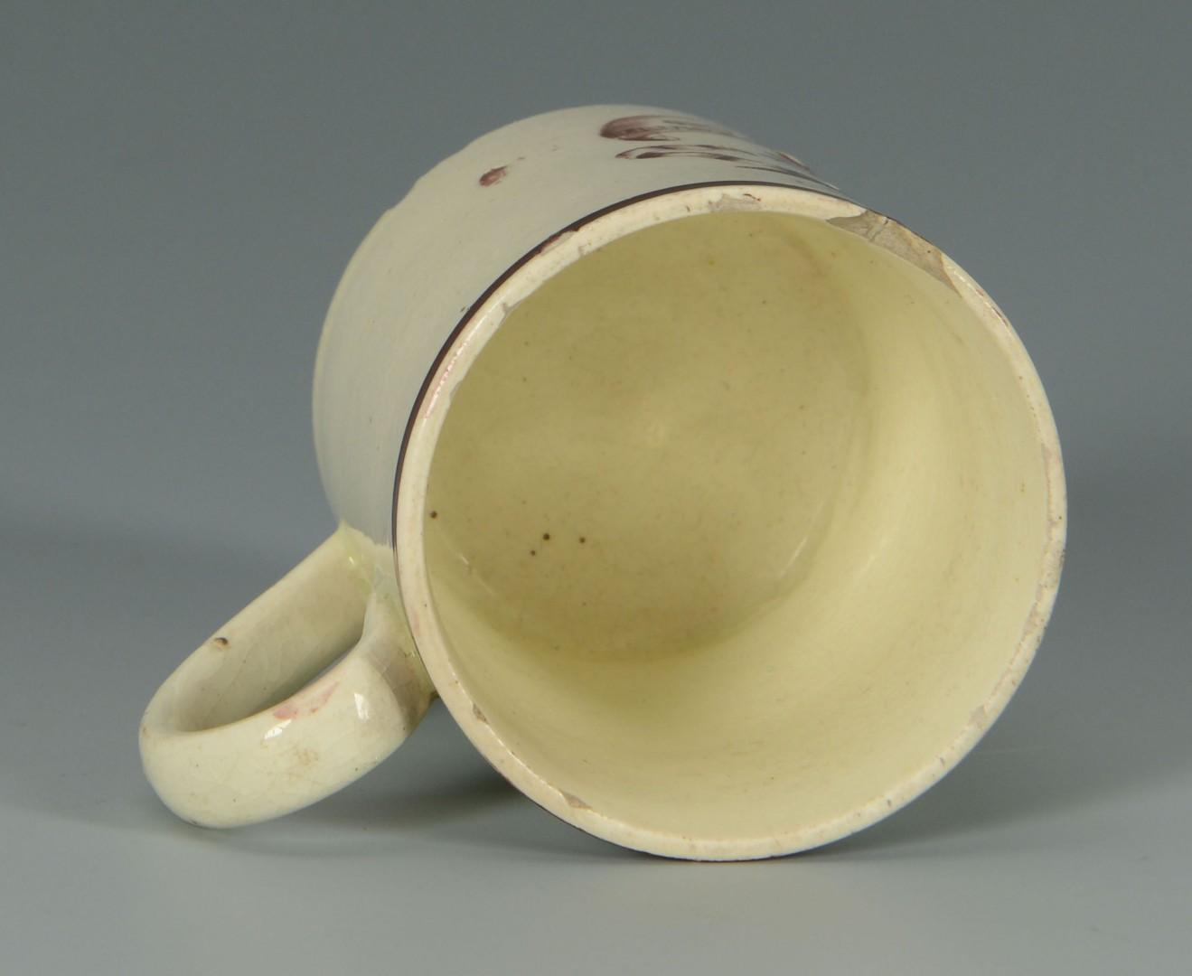 Lot 445: American Patriotic Transferware Child's Mug, Agric
