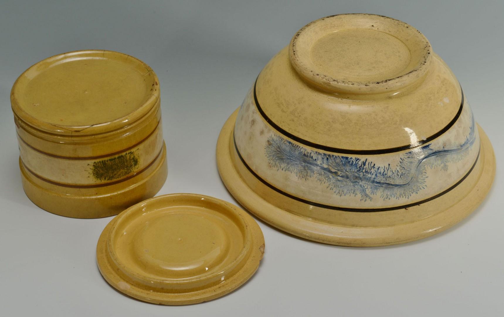 5 Pieces of Yellowware mocha seaweed patt.
