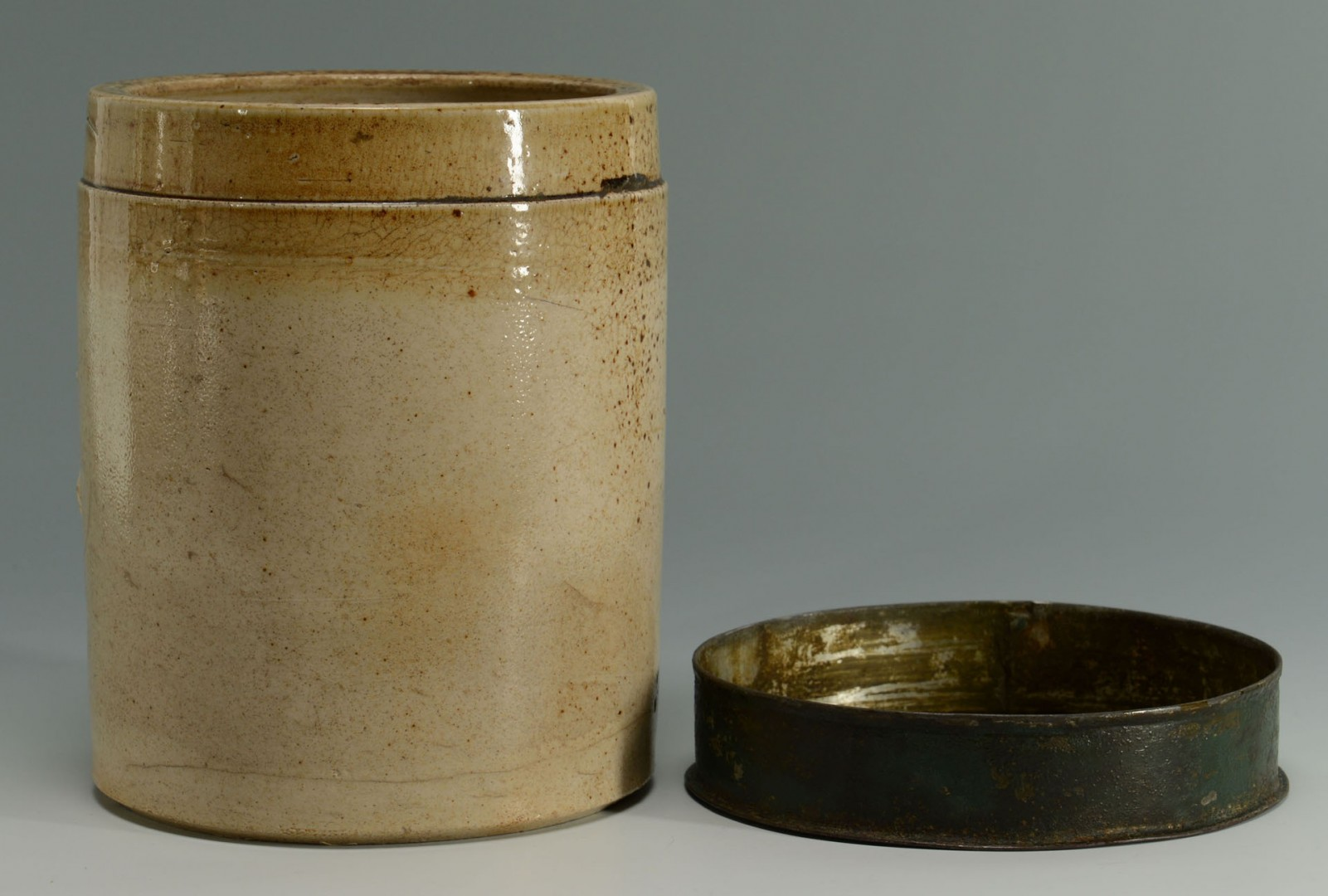 Stoneware Apothecary Jar and French Sardine Box
