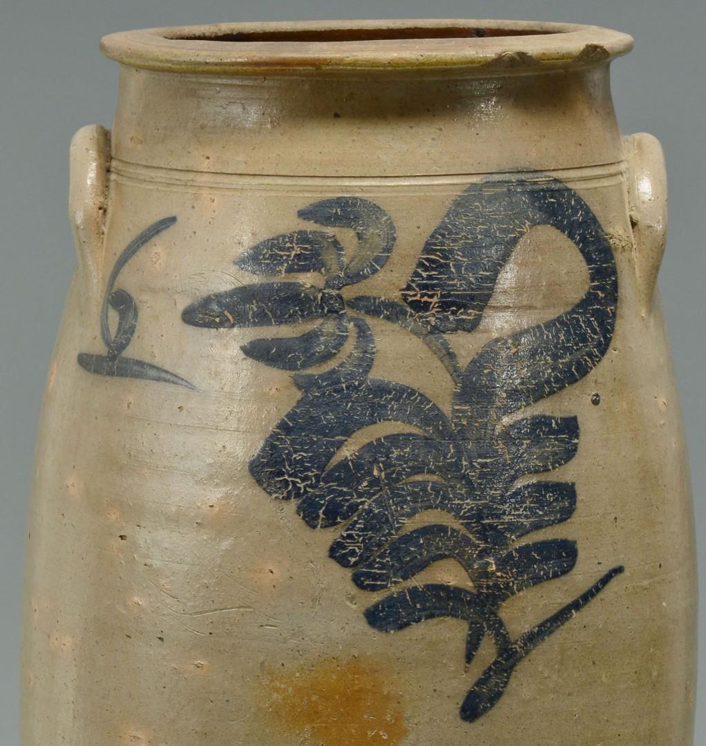 Lot 449: Large Cobalt Stoneware Jar, poss. Southern