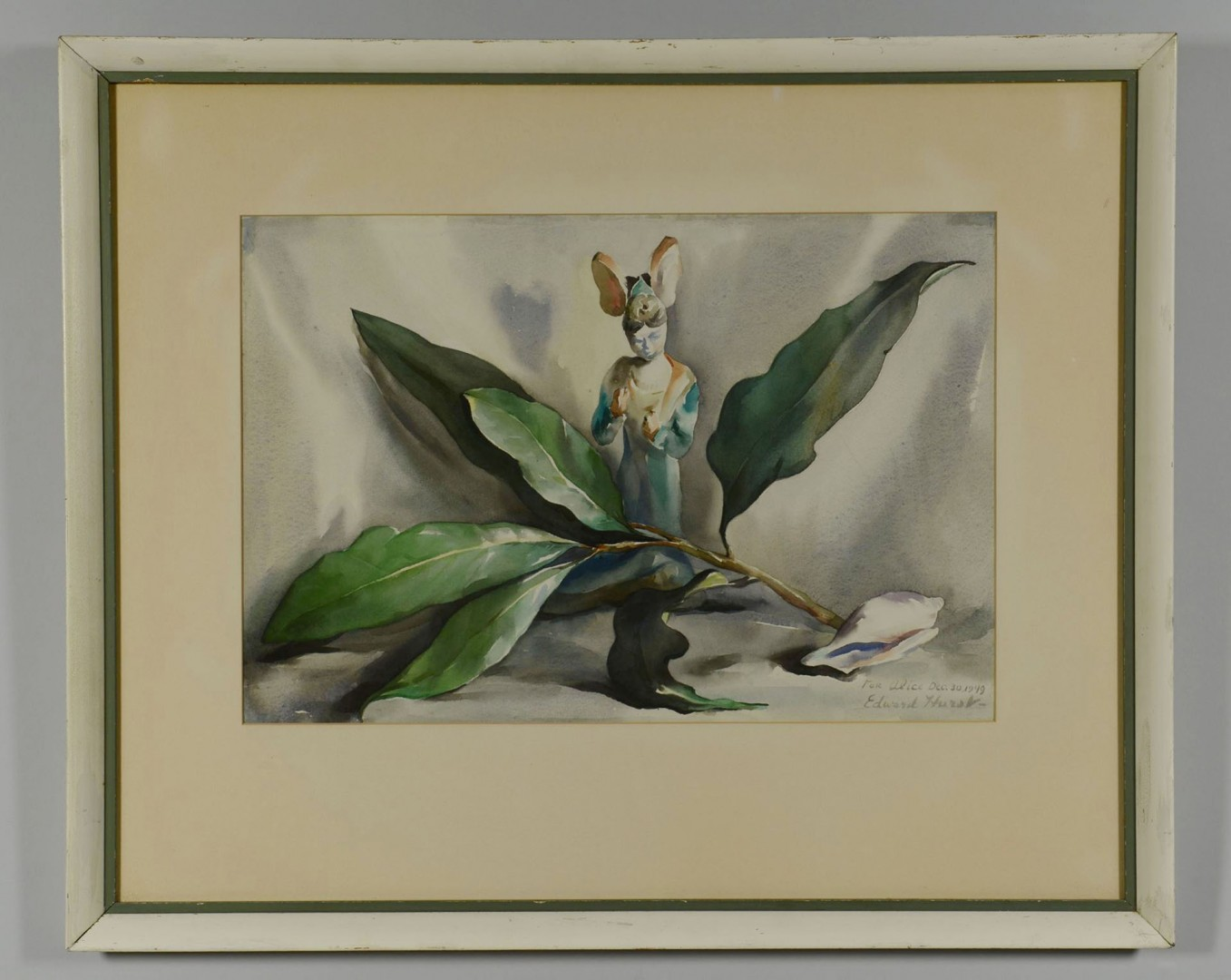 Lot 44: Edward Hurst Magnolia Watercolor