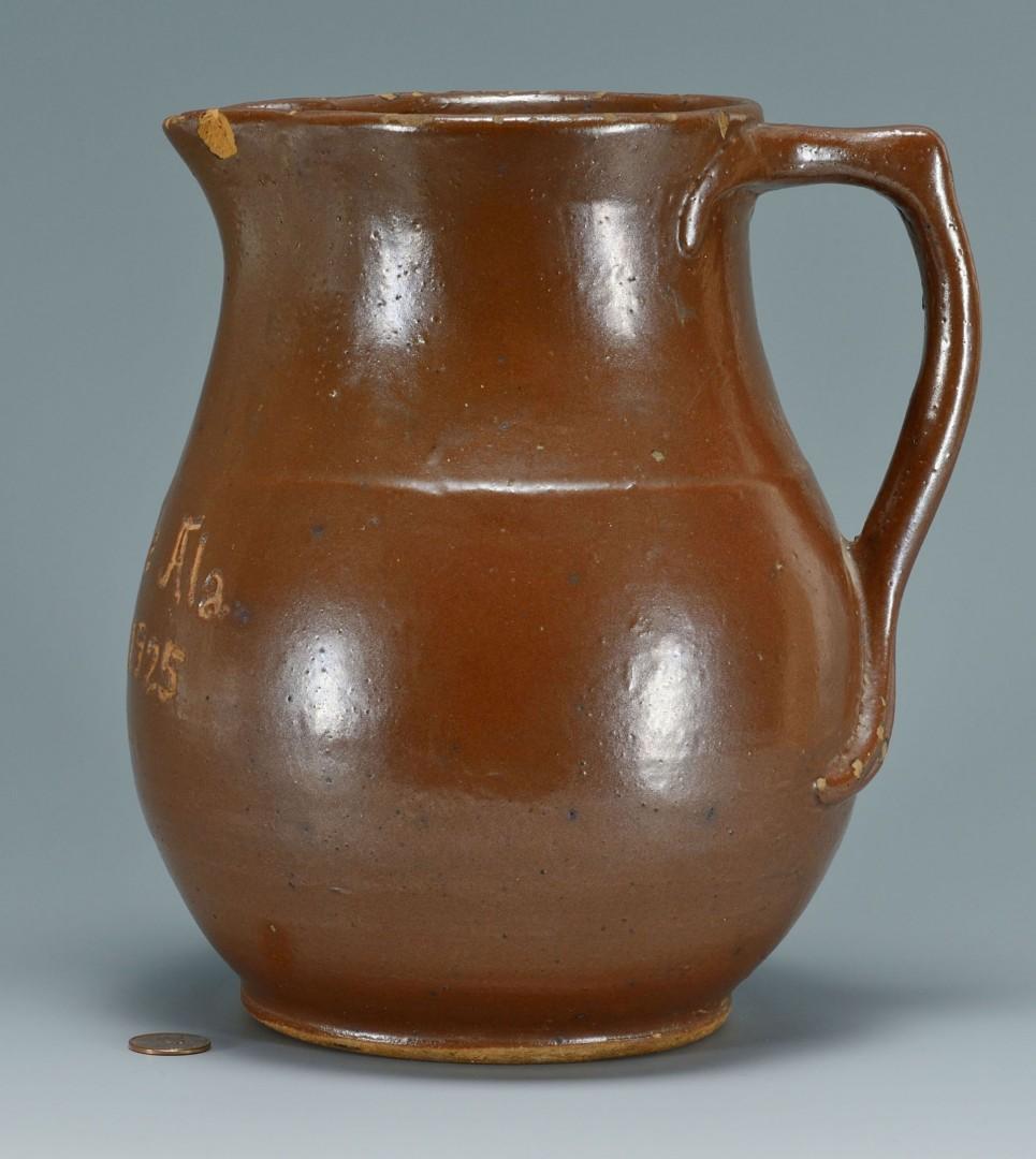 Alabama Redware Pottery Pitcher