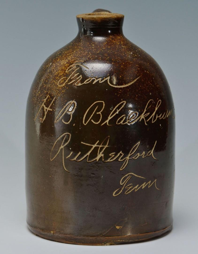 H. B. Blackburn Rutherford, TN Whiskey Jug