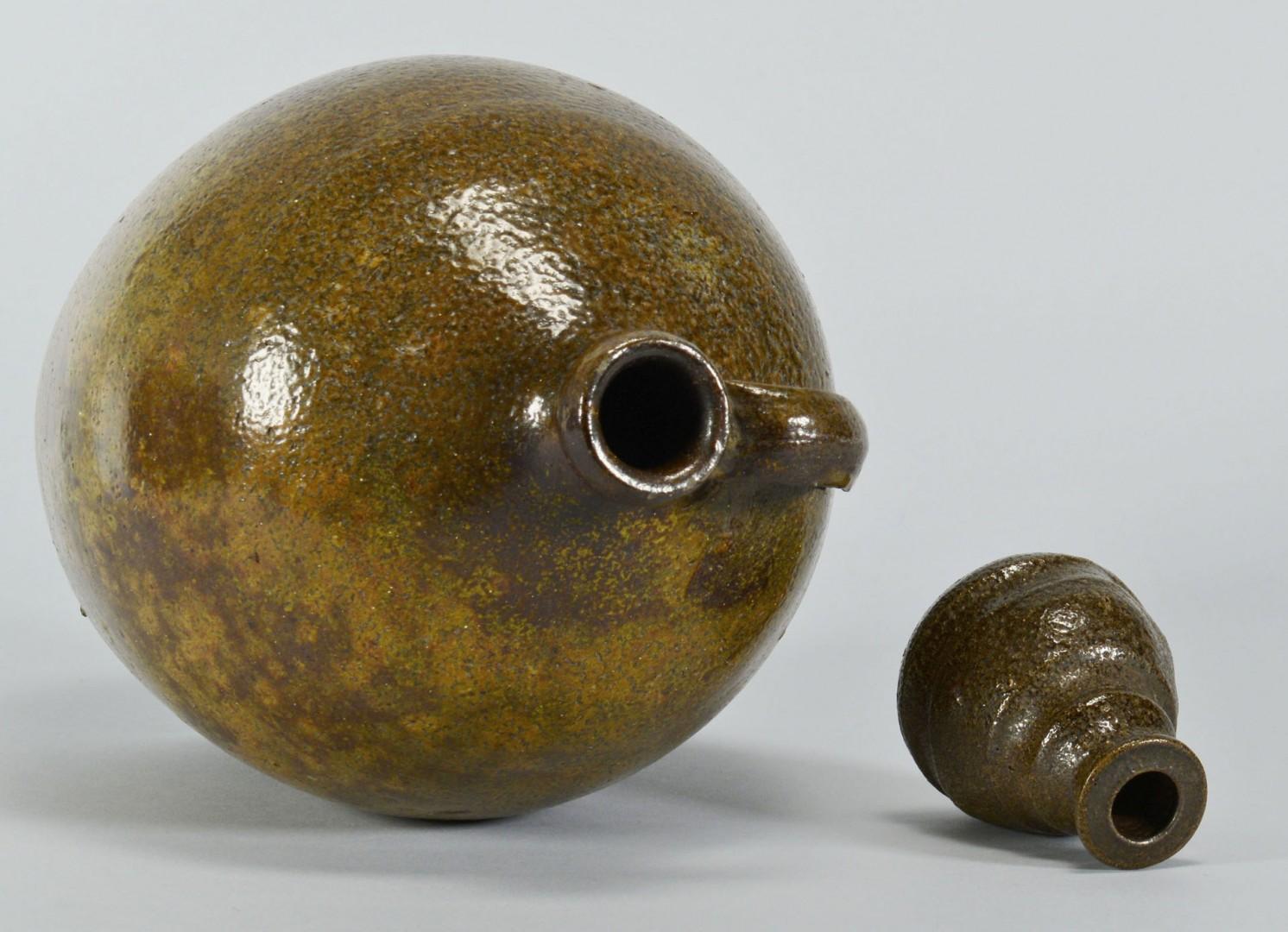 Southern Stoneware Pottery Jug & Inkwell