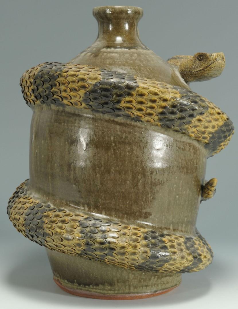Lot 454: Michael & Melvin Crocker Rattlesnake Jug