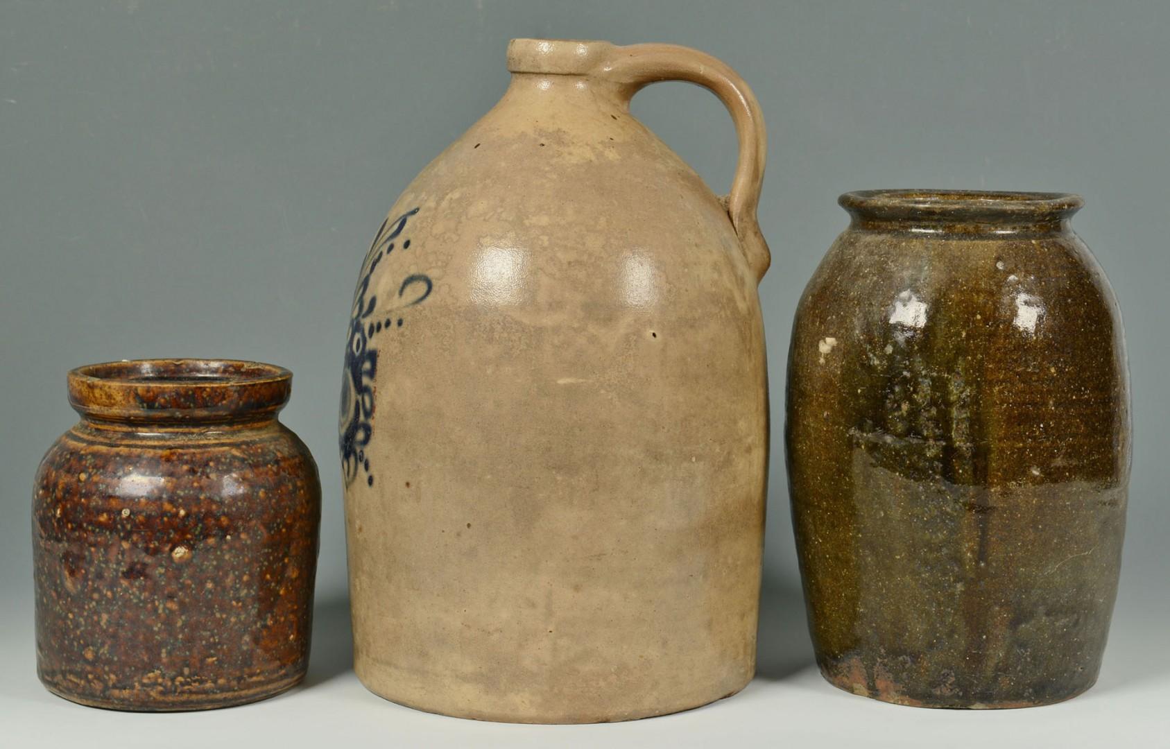 3 Pieces of Stoneware inc. Alkaline