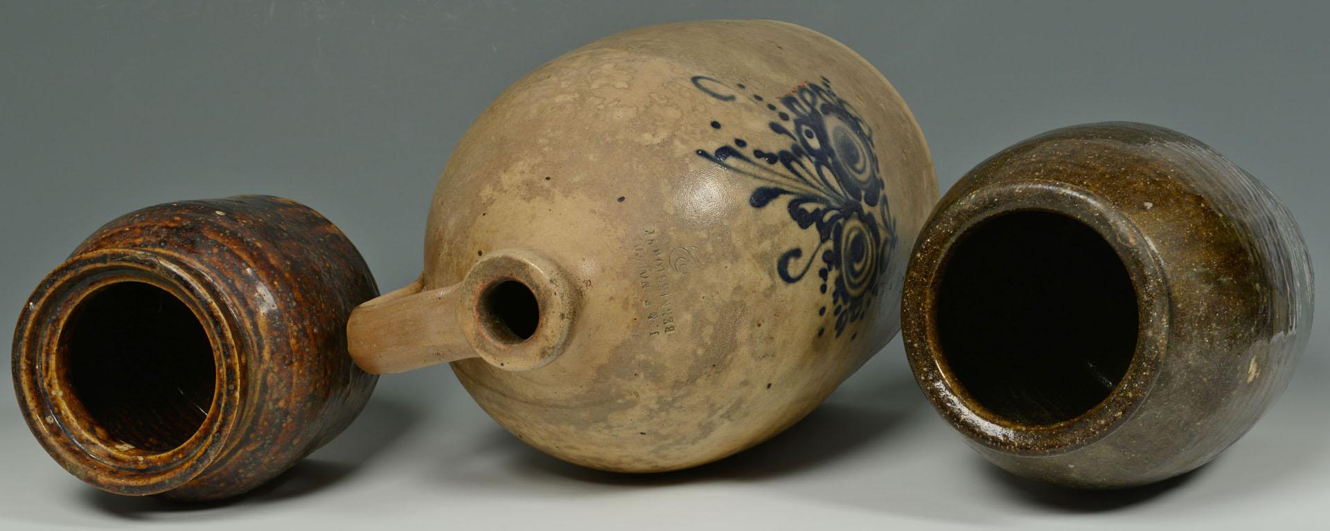 Lot 455: 3 Pieces of Stoneware inc. Alkaline