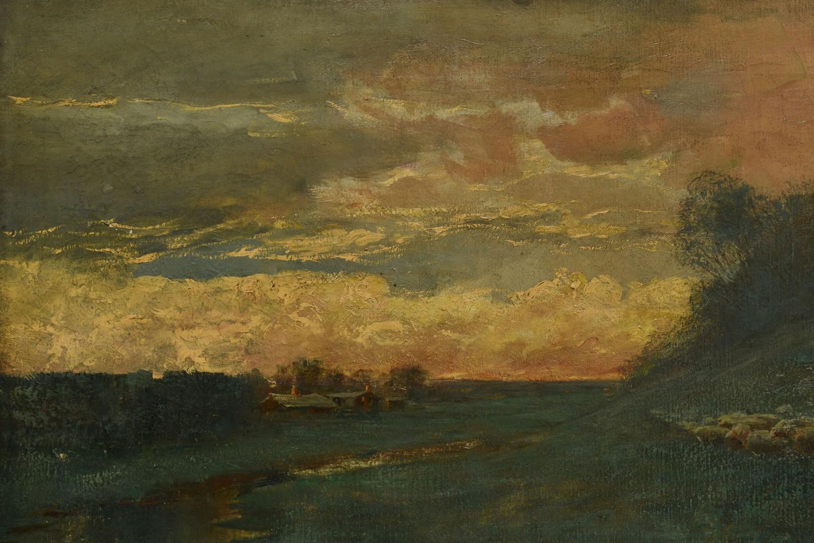Lot 45: Large East TN Pastoral Landscape, J. W. Wallace, 1
