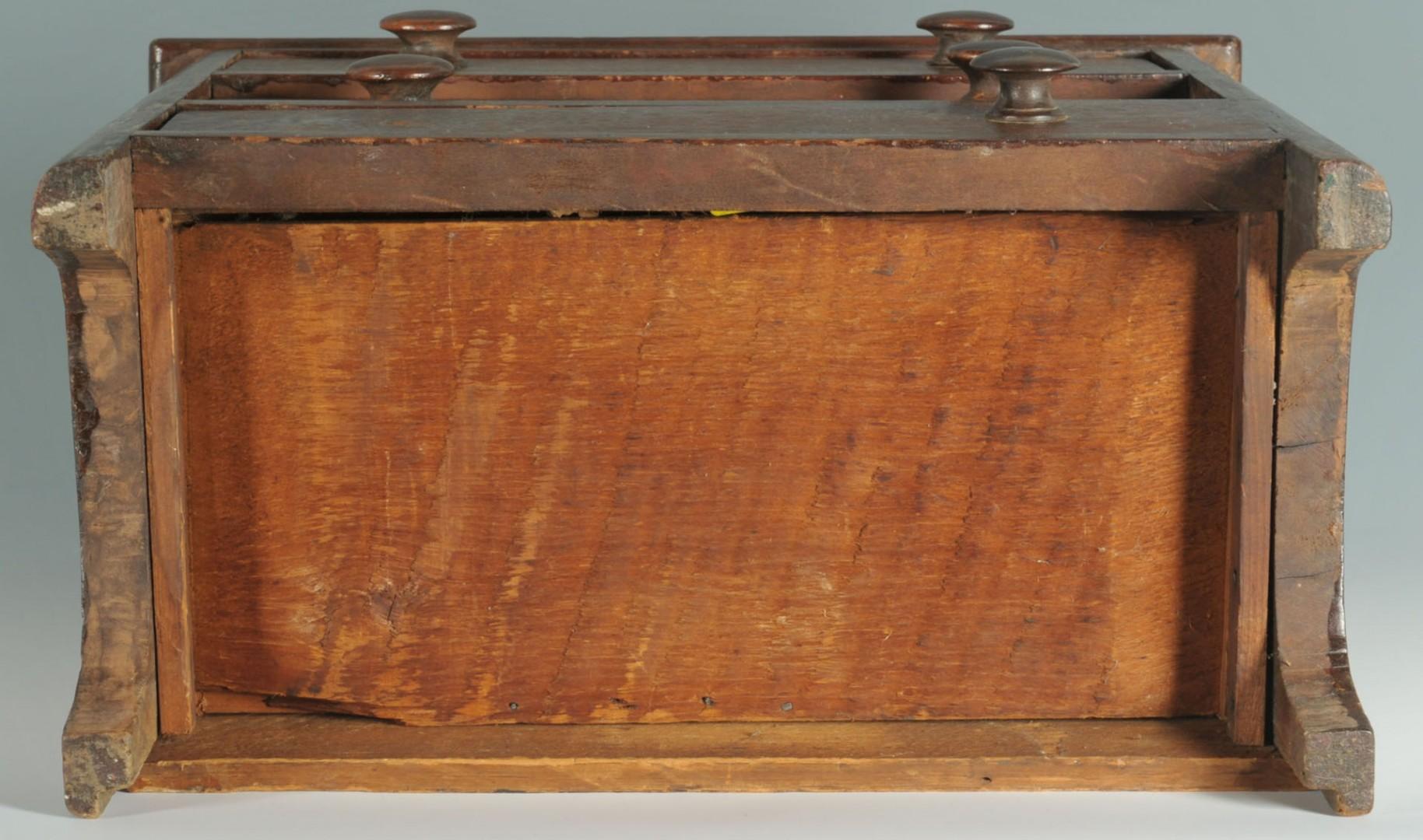 Miniature three-drawer chest