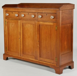 Lot 467: Southwest VA Walnut Sideboard w/ Gallery