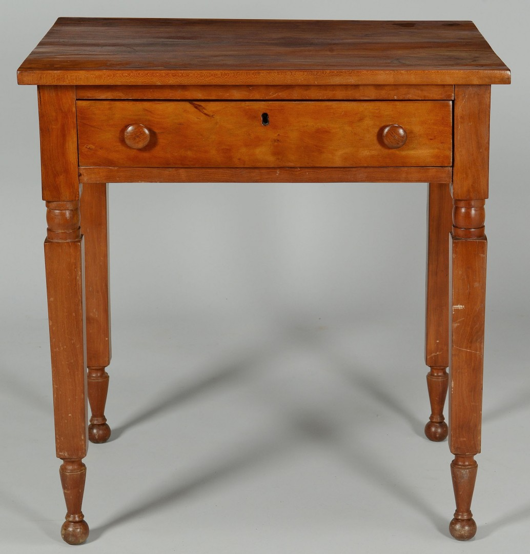 Lot 469: Southern Sheraton Cherry Work Table