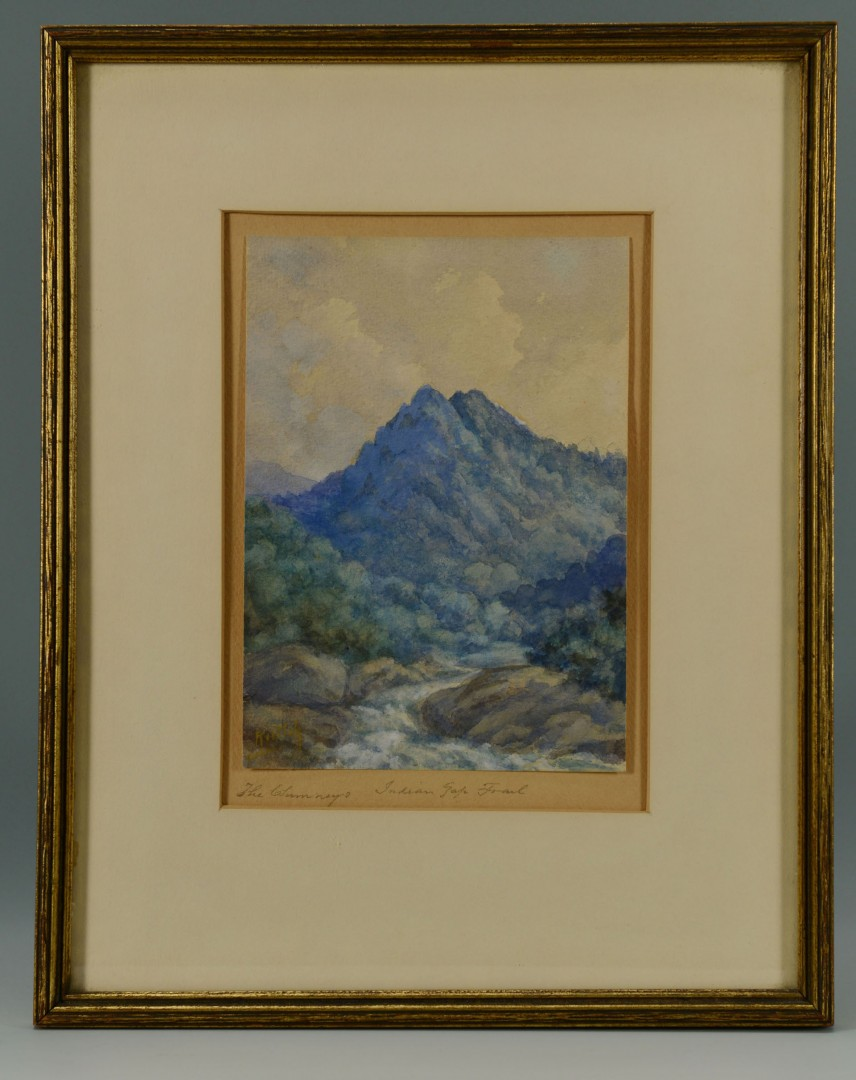 TN Mtn. Watercolor Painting by Charles Krutch