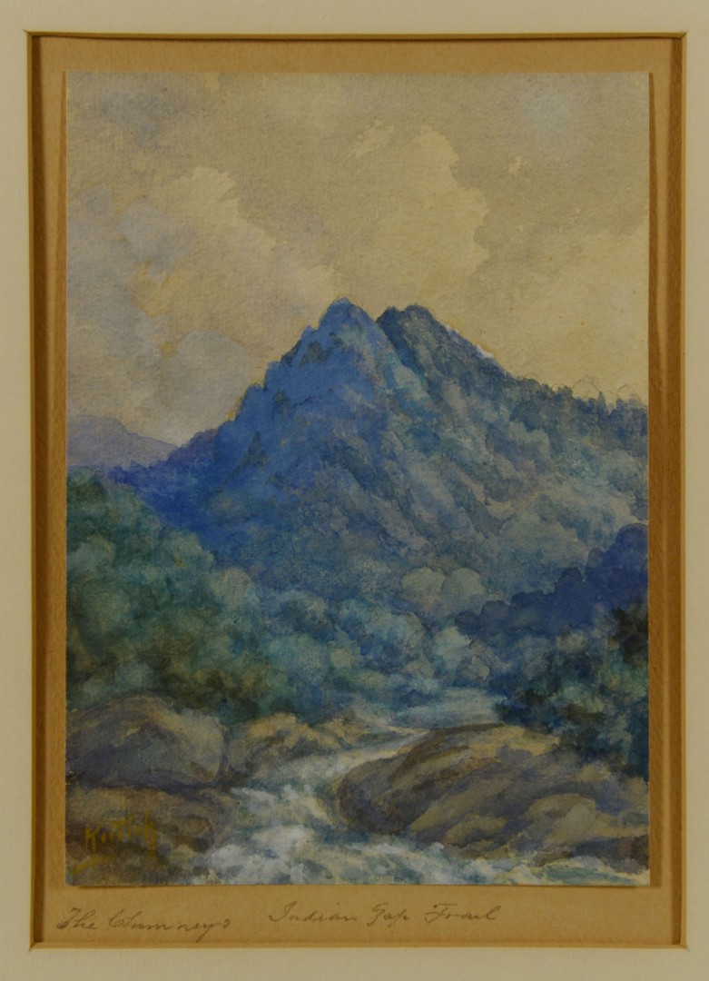 Lot 46: TN Mtn. Watercolor Painting by Charles Krutch