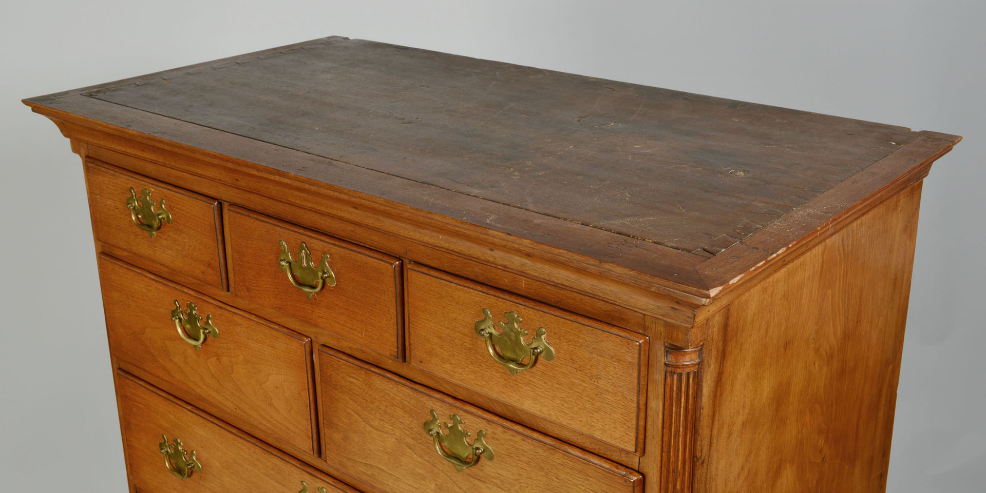Lot 471: Pennsylvania Walnut High Chest, Ogee Feet