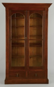 Lot 474: Victorian Mahogany and Glass Bookcase