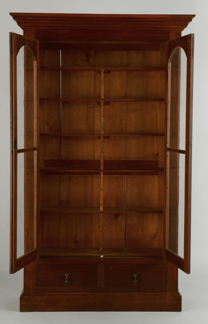 Victorian Mahogany and Glass Bookcase