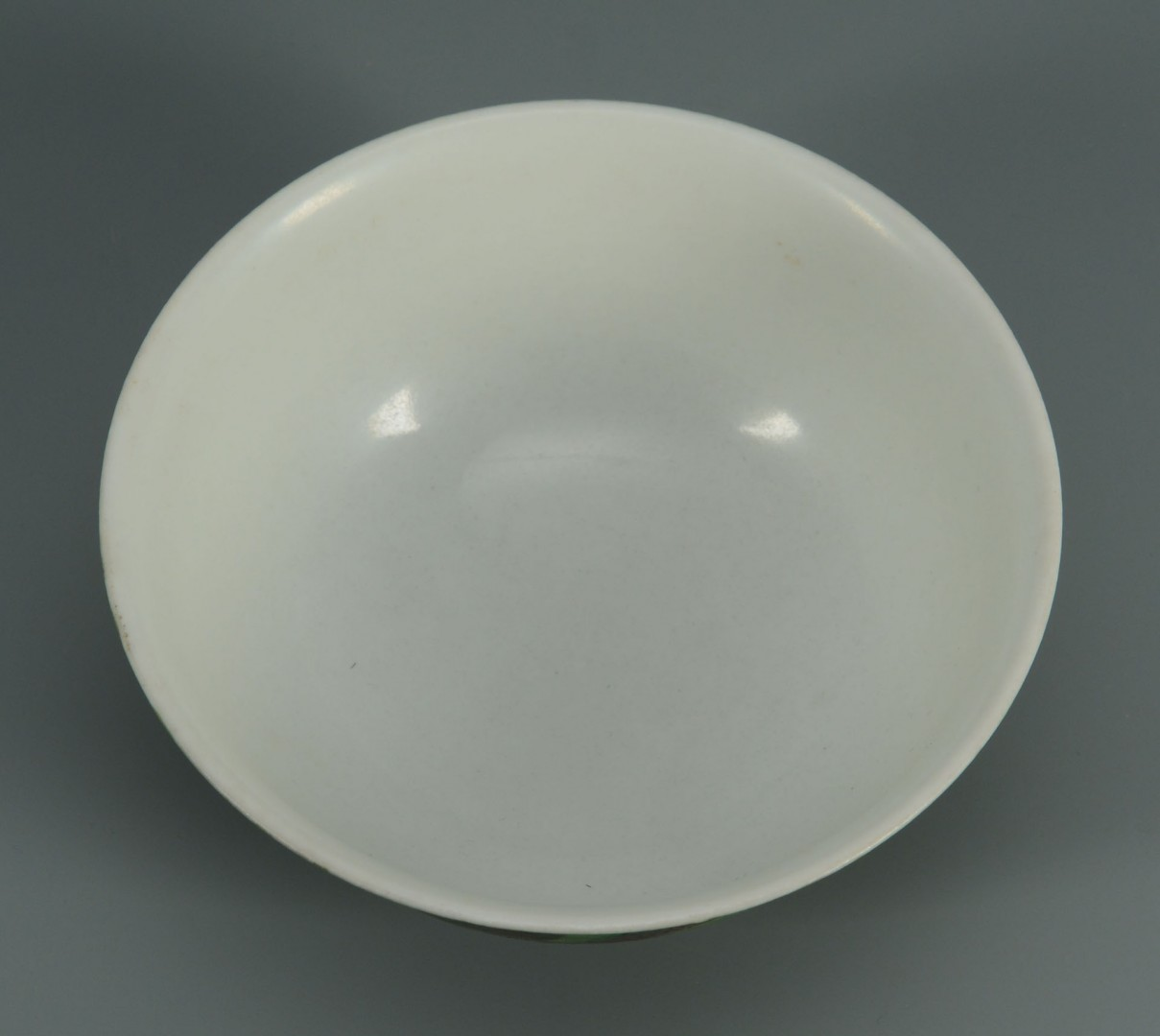 Lot 479: Chinese Porcelain Bowl w/ Green Ground & Dragon