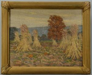 Lot 47: Early Louis E. Jones Fall Landscape