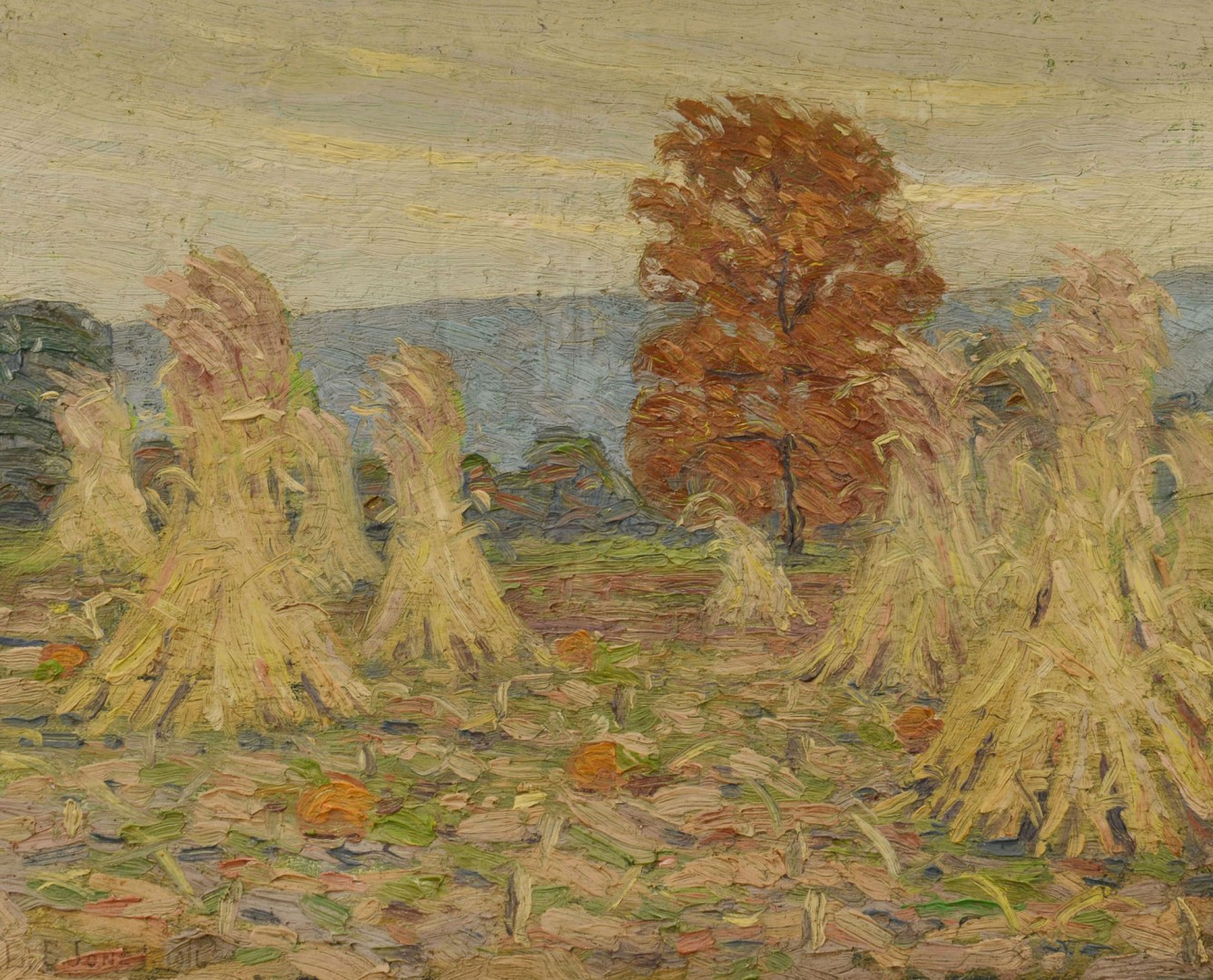 Early Louis E. Jones Fall Landscape