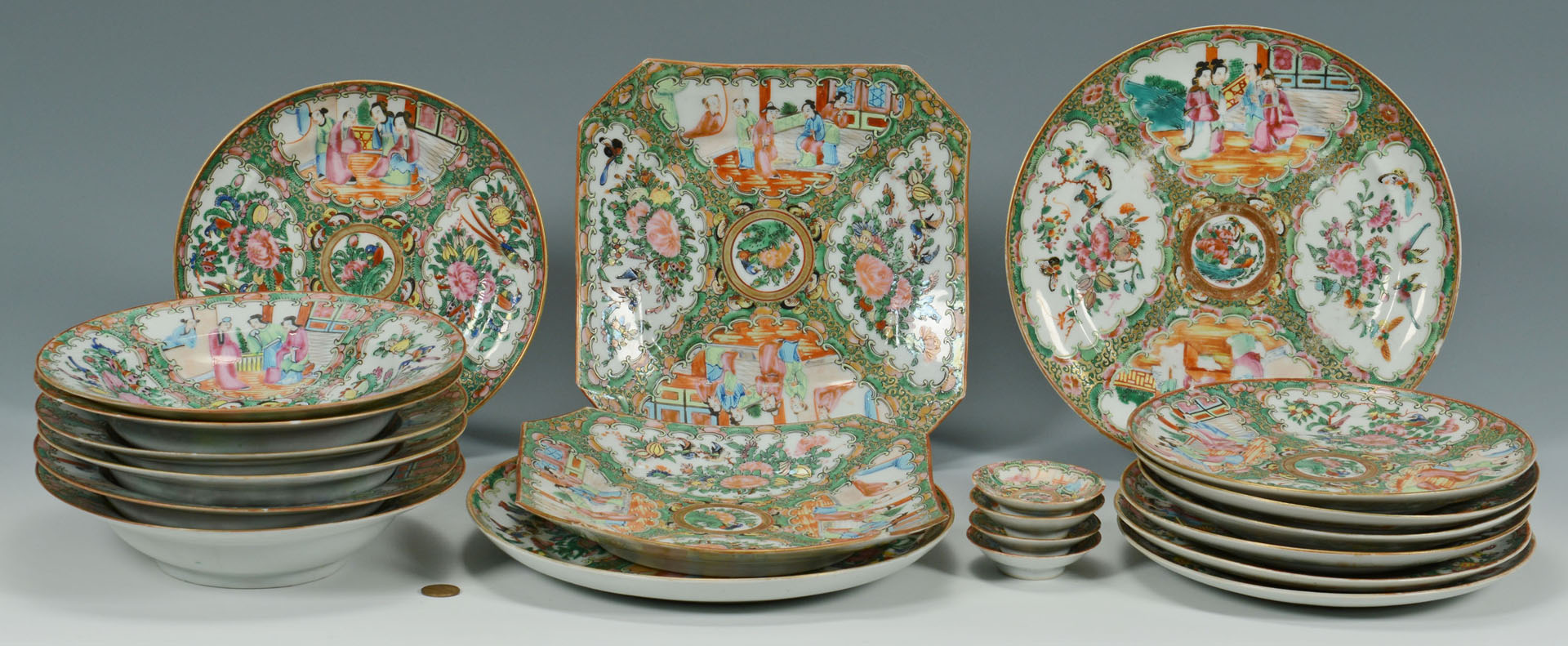 Lot 481: Group of Chinese Rose Medallion Porcelain