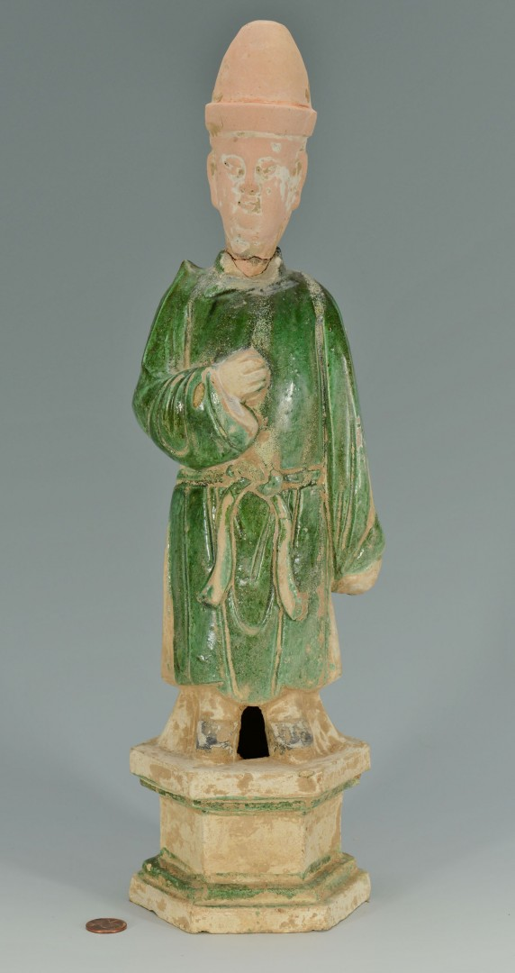 Chinese Glazed Tang or Ming Dynasty Figure