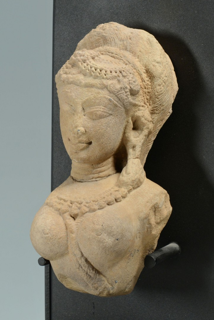 Lot 485: Hindu Goddess Stone Temple Carving
