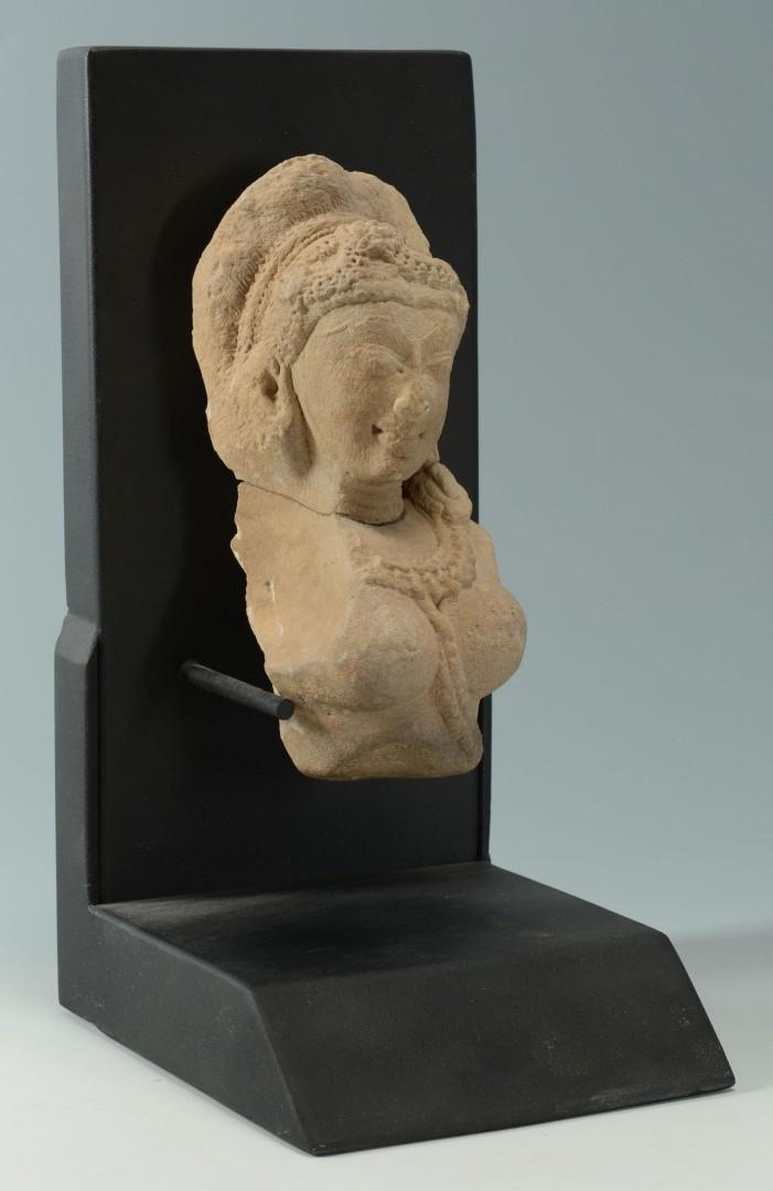 Lot 485: Hindu Goddess Stone Temple Carving