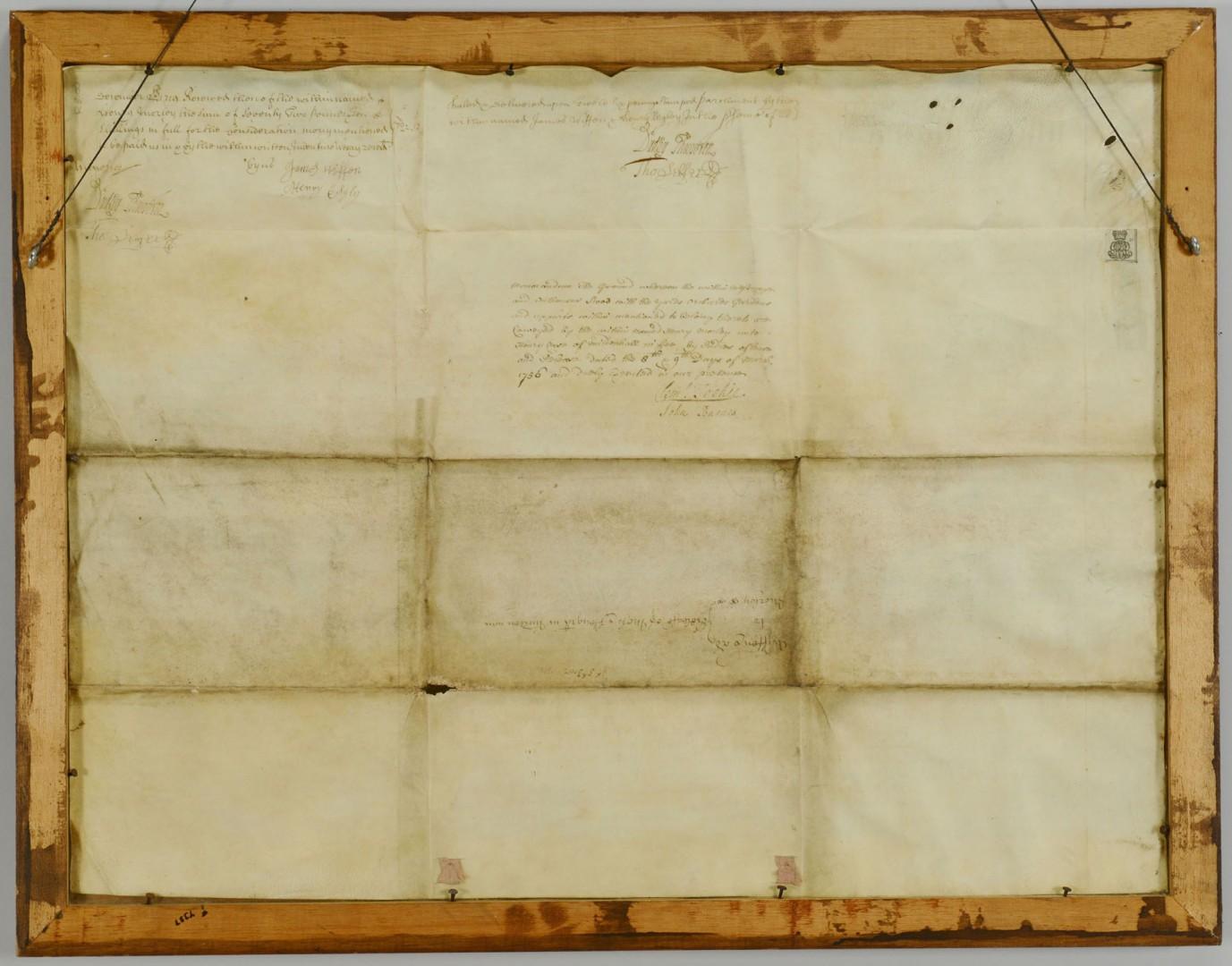 18th Cent. English Indentured Servent Document