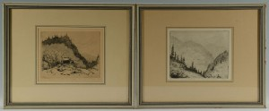 Lot 48: Pair of Louis E. Jones Etchings