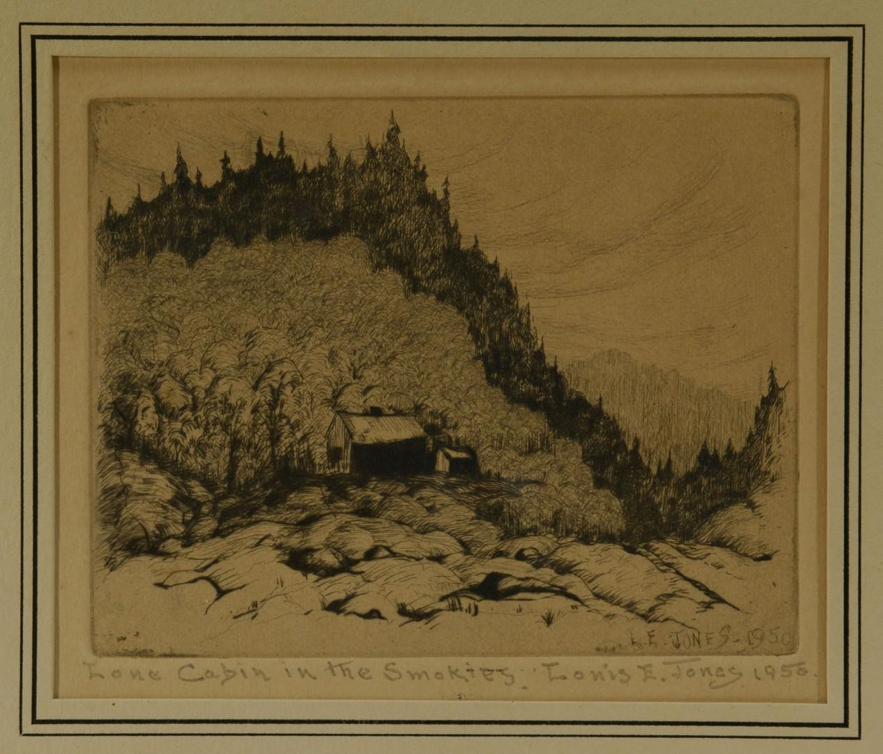 Lot 48: Pair of Louis E. Jones Etchings